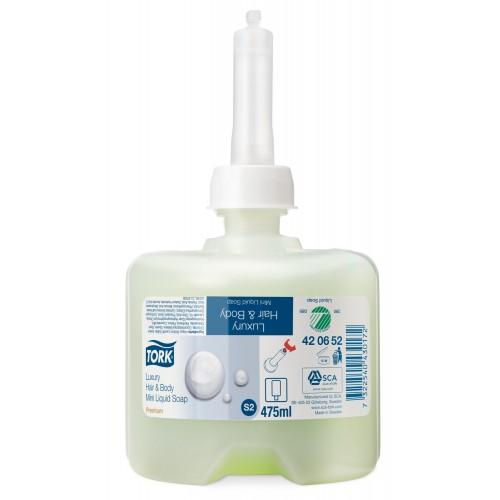 Tork luksusowe mydło w płynie mini do włosów i ciała