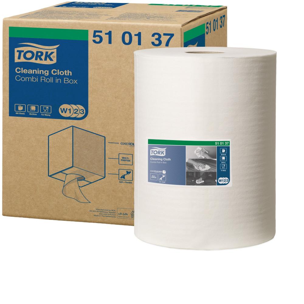 Tork czyściwo włókninowe wielozadaniowe W1/W2/W3; EAN13: 7322540057270