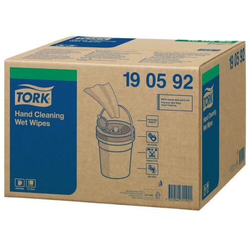 Tork czyściwo włókninowe nasączane do trudnych zabrudzeń rąk Handy Bucket; EAN13: 7322540311921