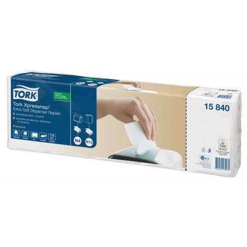 Tork Xpressnap® ekstra miękka biała serwetka dyspenserowa; EAN13: 7322540539981