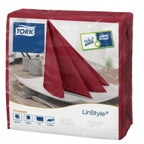 Tork Linstyle® bordowa serwetka obiadowa; EAN13: 7322540680782