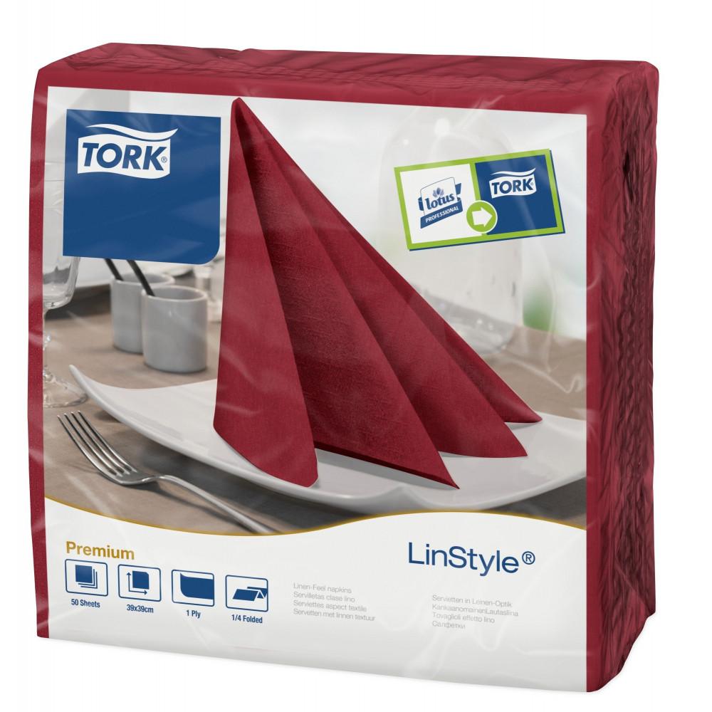 Tork Linstyle® bordowa serwetka obiadowa; EAN13: 7322540653090