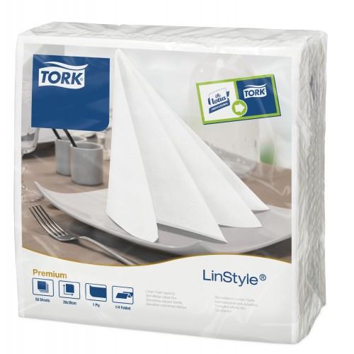 Tork Linstyle® biała serwetka obiadowa; EAN13: 3133200073967