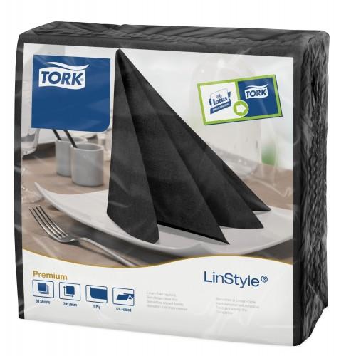 Tork Linstyle® czarna serwetka obiadowa; EAN13: 3133200074261