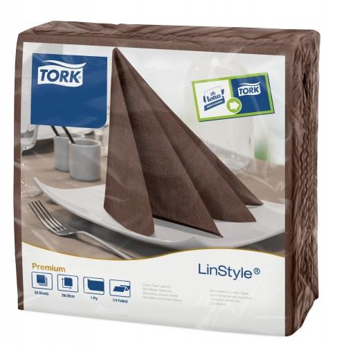 Tork Linstyle® brązowa serwetka obiadowa; EAN13: 3133200074131