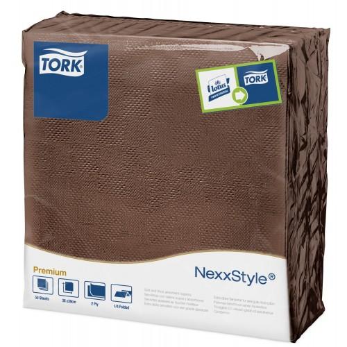 Tork Nexxstyle® brązowa serwetka obiadowa; EAN13: 3133200064750