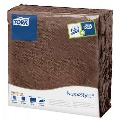 Tork Nexxstyle® brązowa serwetka obiadowa