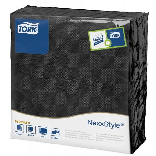 Tork Nexxstyle® czarna serwetka obiadowa; EAN13: 3133200064552