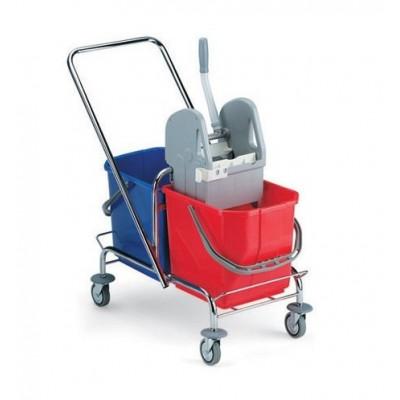 Wózek jednokomorowy TTS 2105 z wyciskarką  2x25L chrom