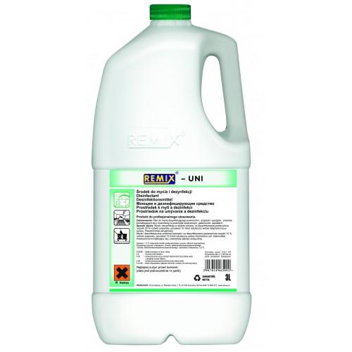 Remix UNI Koncentrat do mycia i dezynfekcji urządzeń i powierzchni kontaktujących się z żywnością.