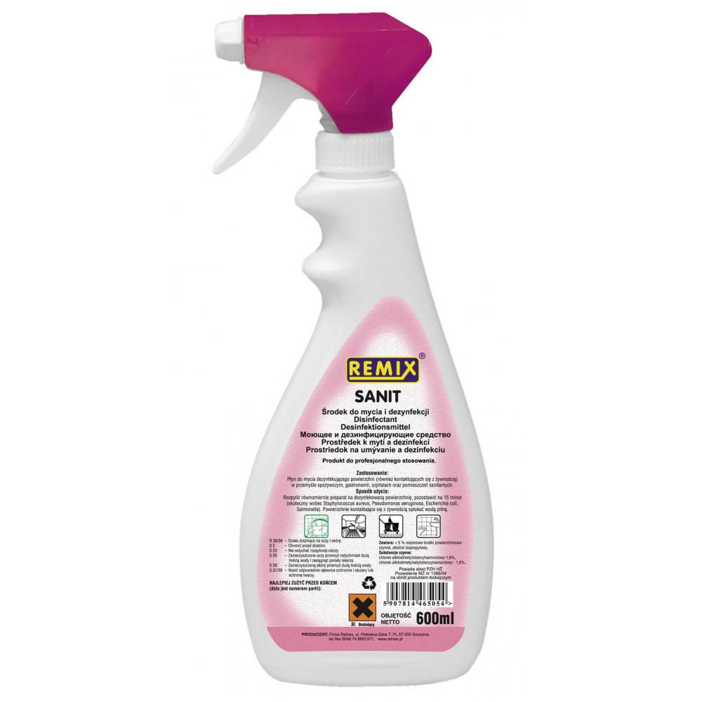 Remix SANIT Koncentrat do mycia i dezynfekcji urządzeń i powierzchni kontaktujących się z żywnością